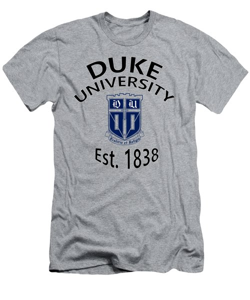 Duke University Est 1838 Men's T-Shirt (Slim Fit) by Movie Poster Prints