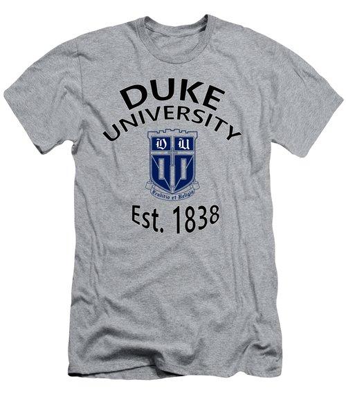 Duke University Est 1838 Men's T-Shirt (Slim Fit) by Movie Poster Prints