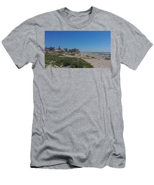 Dunes At The Del Men's T-Shirt (Slim Fit) by Mark Barclay
