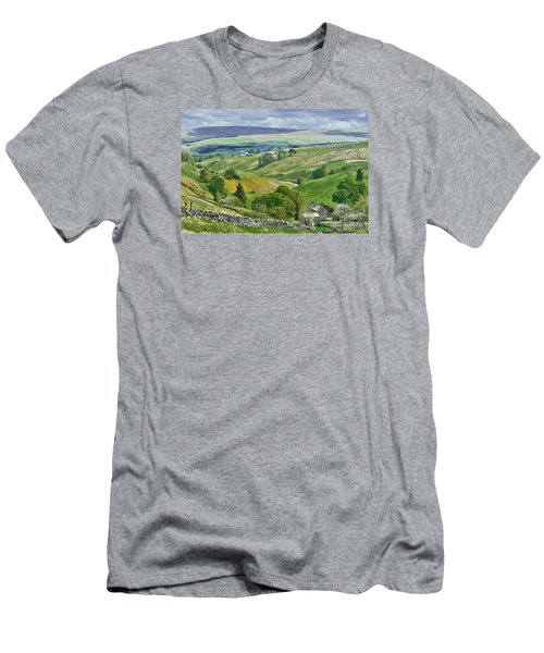 Durham Dales Countryside - Weardale Men's T-Shirt (Athletic Fit)