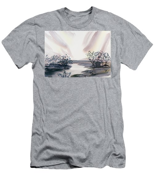 Dusk Creeping Up The River Men's T-Shirt (Athletic Fit)