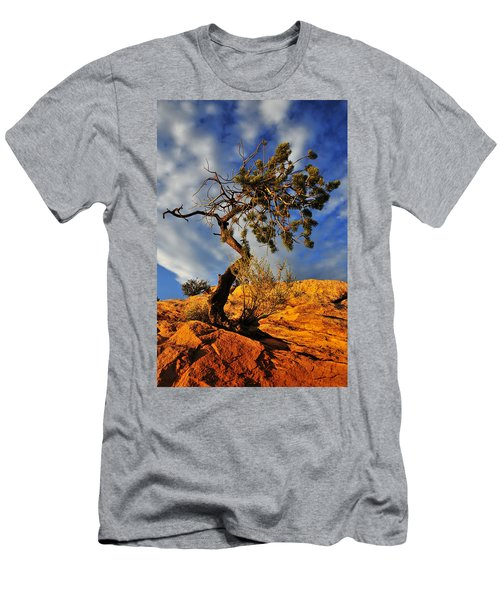Men's T-Shirt (Slim Fit) featuring the photograph Dusk Dance by Skip Hunt