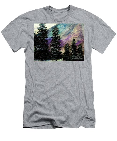 Dusk On Purple Mountain Men's T-Shirt (Athletic Fit)