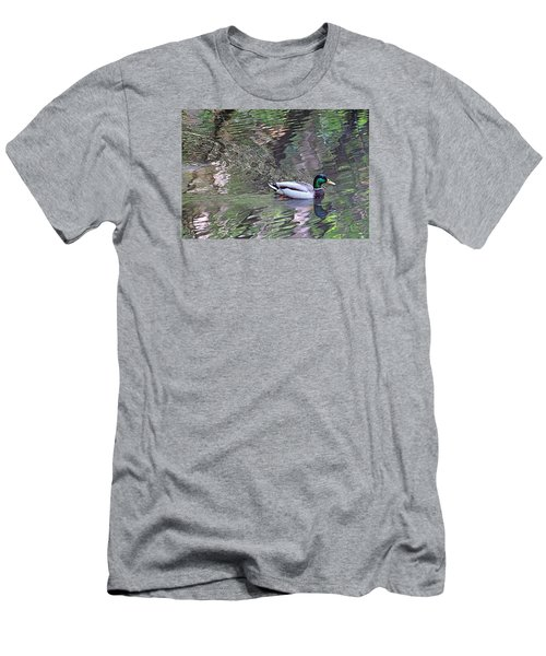 Men's T-Shirt (Slim Fit) featuring the photograph Duck Patterns by Suzy Piatt