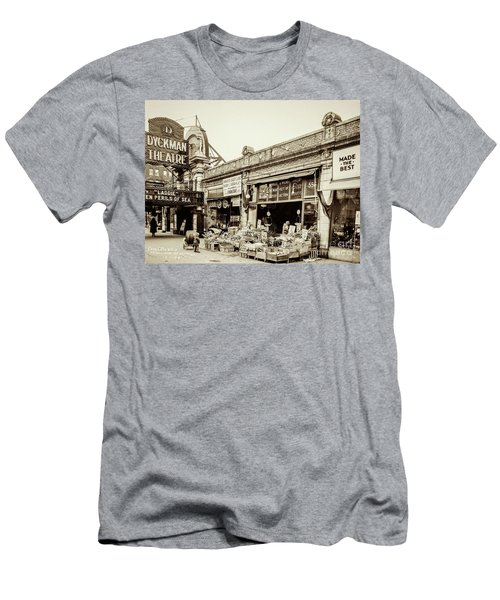 Men's T-Shirt (Athletic Fit) featuring the photograph Dyckman Theater, 1926 by Cole Thompson