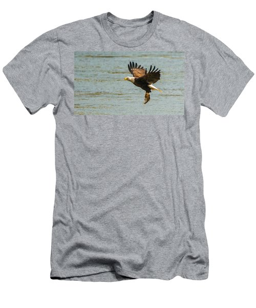 Eagle Departing With Prize Close-up Men's T-Shirt (Athletic Fit)
