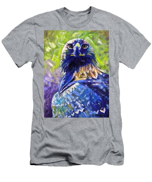Eagle On Alert Men's T-Shirt (Athletic Fit)