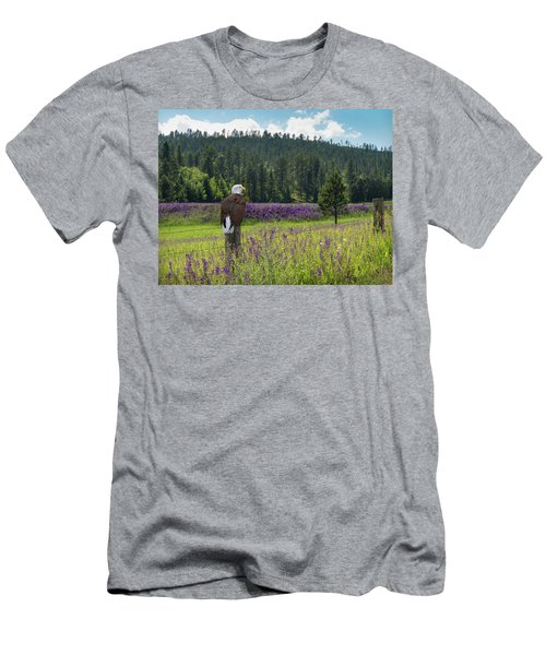 Eagle On Fence Post Men's T-Shirt (Athletic Fit)
