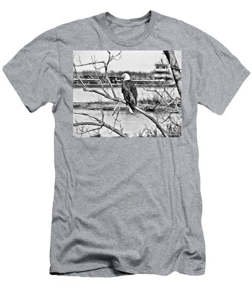 Eagle On The Illinois River Men's T-Shirt (Athletic Fit)