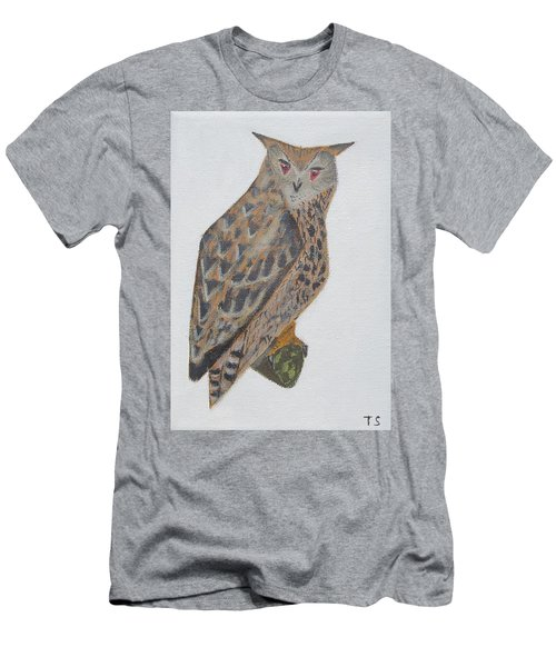 Eagle Owl Men's T-Shirt (Slim Fit) by Tamara Savchenko