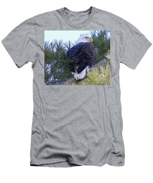 Eagle Portrait Men's T-Shirt (Slim Fit) by Brook Burling