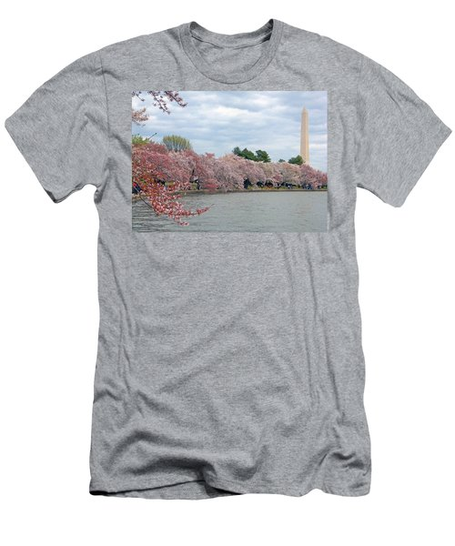 Early Arrival Of The Japanese Cherry Blossoms 2016 Men's T-Shirt (Athletic Fit)