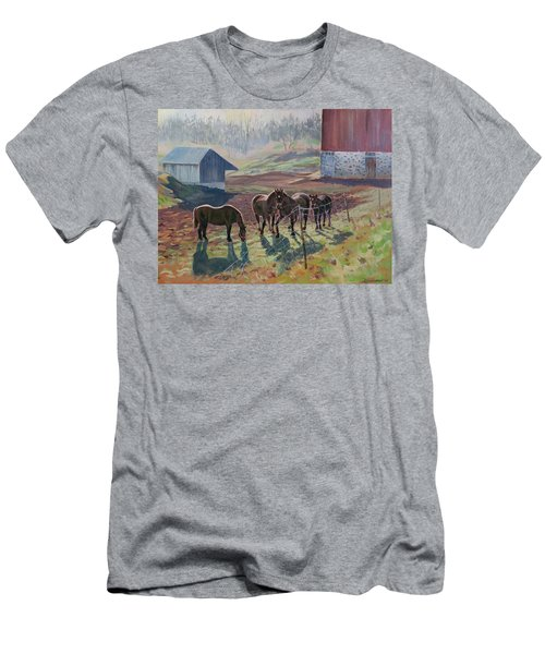 Early December At The Farm Men's T-Shirt (Athletic Fit)