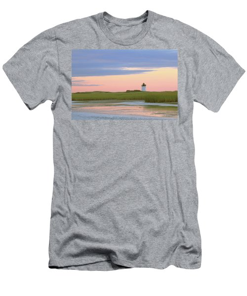 Men's T-Shirt (Slim Fit) featuring the photograph Early Light At Wood End Light by Roupen  Baker