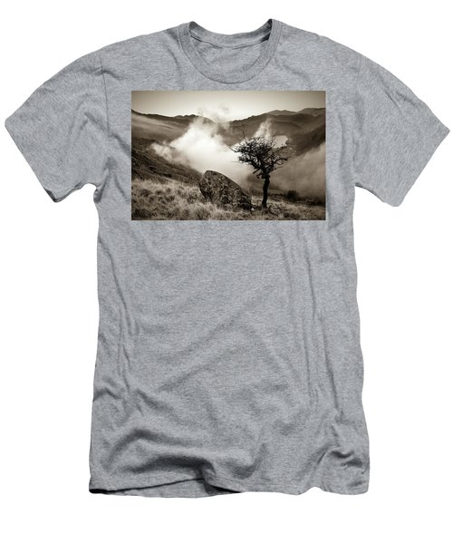 Early Mist, Nant Gwynant Men's T-Shirt (Athletic Fit)