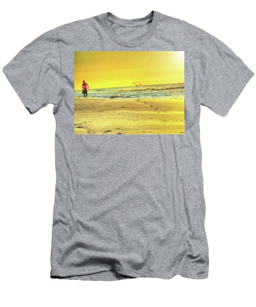 Early Morning Beach Walk Men's T-Shirt (Athletic Fit)