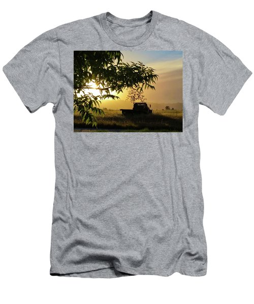 Men's T-Shirt (Athletic Fit) featuring the photograph Early Morning In Watsonville by Lora Lee Chapman