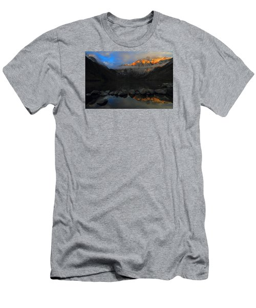 Early Morning Light At Convict Lake In The Eastern Sierras Men's T-Shirt (Slim Fit) by Jetson Nguyen