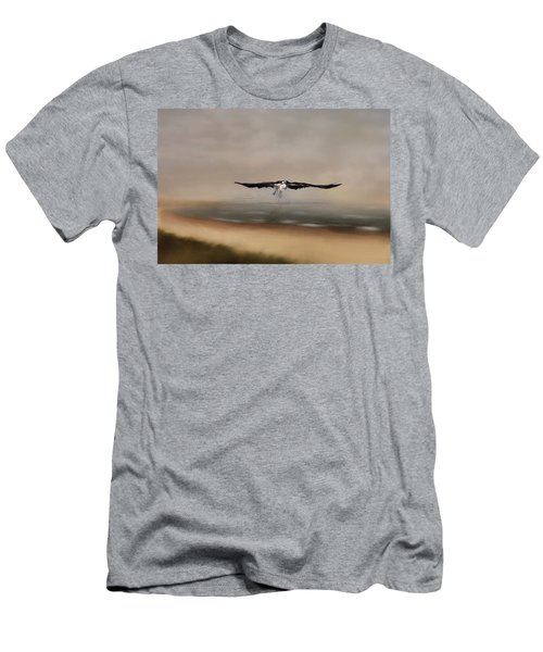 Men's T-Shirt (Athletic Fit) featuring the photograph Early Morning Takeoff by Kim Hojnacki