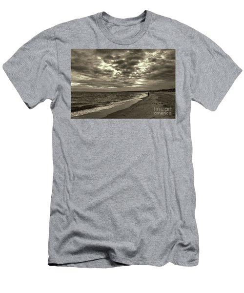Early Morning Walk On Virginia Beach Men's T-Shirt (Athletic Fit)