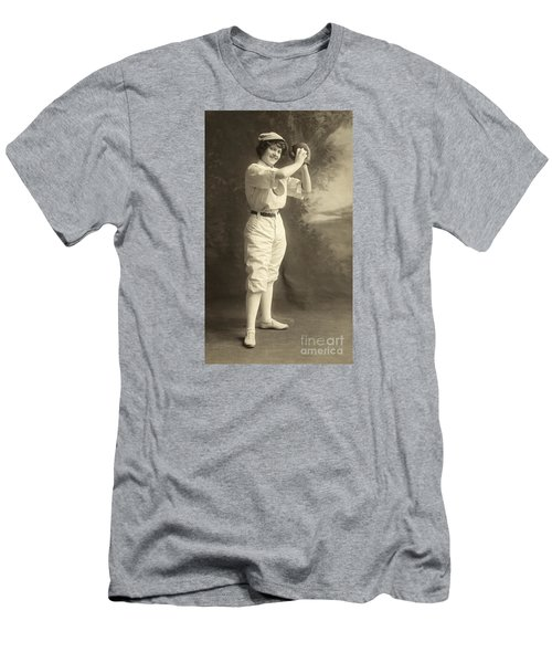 Early Portrait Of A Woman Baseball Player Men's T-Shirt (Athletic Fit)