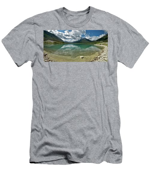 Early Summer Day On Goat Pond Men's T-Shirt (Slim Fit) by Sebastien Coursol