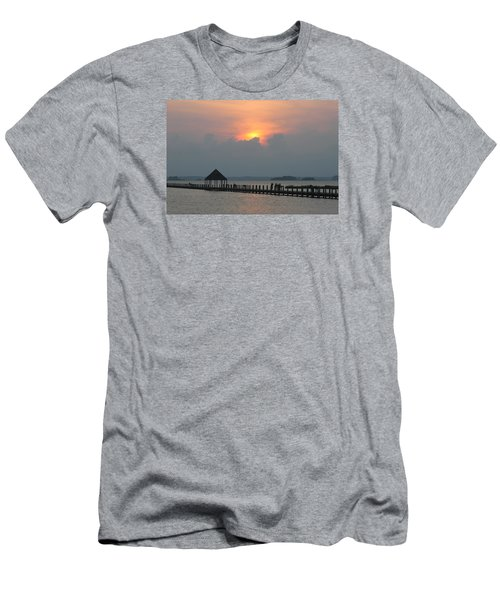 Men's T-Shirt (Slim Fit) featuring the photograph Early Sunset Over The Gazebo by Robert Banach