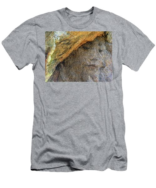 Men's T-Shirt (Slim Fit) featuring the photograph Earth Memories-stone # 4 by Ed Hall