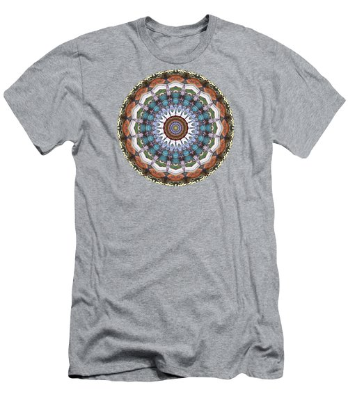 Earth Tones Mandala Men's T-Shirt (Athletic Fit)