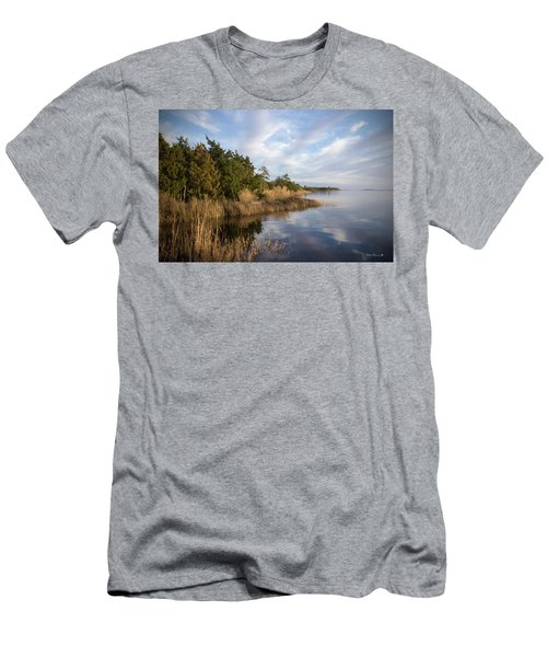 East Bank Looking South At Sunset Men's T-Shirt (Slim Fit) by Phil Mancuso