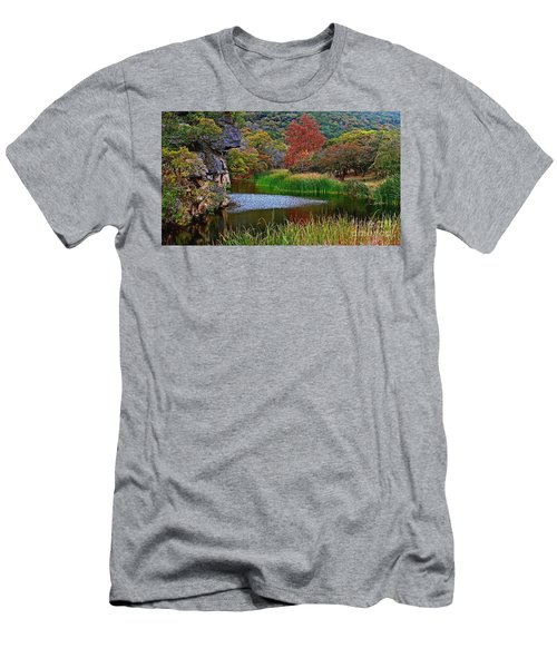 East Trail Pond At Lost Maples Men's T-Shirt (Athletic Fit)