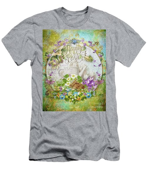 Men's T-Shirt (Slim Fit) featuring the mixed media Easter Breakfast by Mo T