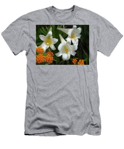 Easter Lilies And Butterfly Weed Men's T-Shirt (Athletic Fit)