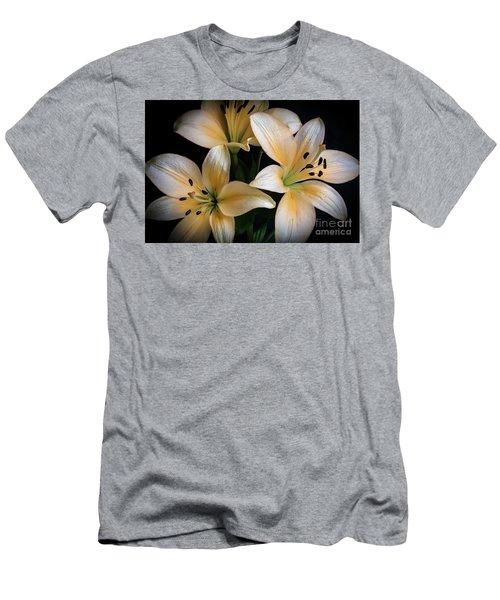 Easter Lilies  Men's T-Shirt (Slim Fit) by Deborah Klubertanz