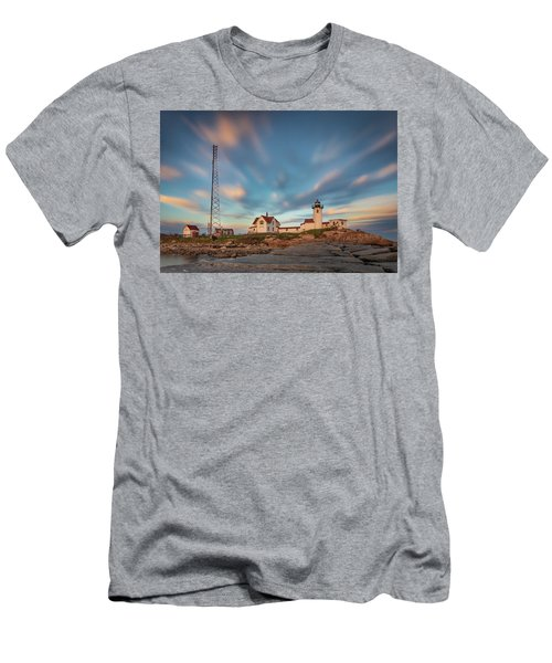 Eastern Point Lighthouse At Sunset Men's T-Shirt (Athletic Fit)