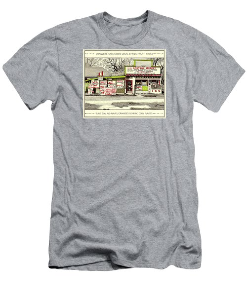 Men's T-Shirt (Athletic Fit) featuring the painting Eastside Market by Chholing Taha