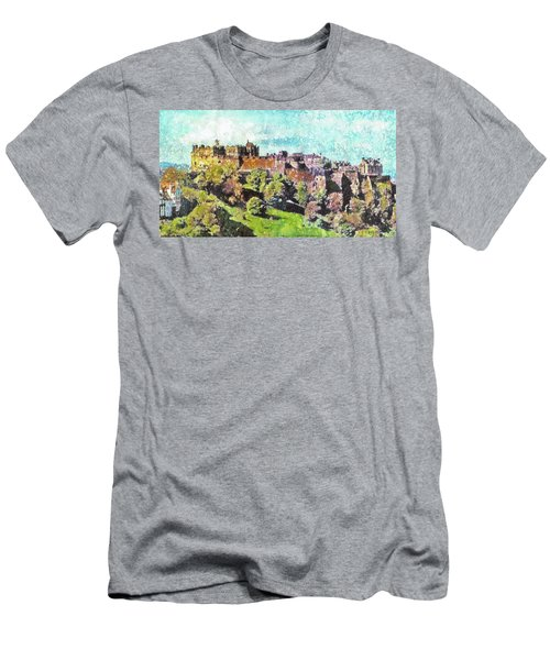 Edinburgh Castle Skyline No 2 Men's T-Shirt (Athletic Fit)