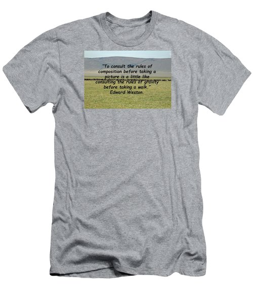 Edward Weston Quote Men's T-Shirt (Athletic Fit)