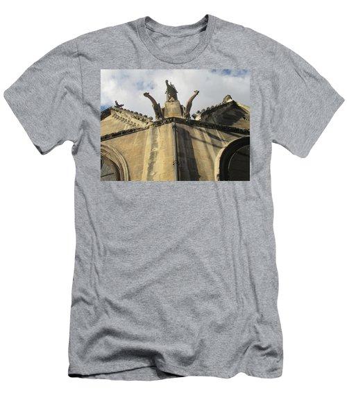 Men's T-Shirt (Slim Fit) featuring the photograph Eglise Saint-severin, Paris by Christopher Kirby