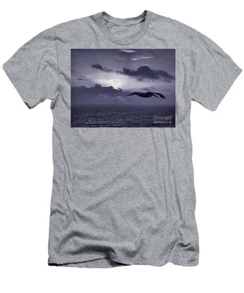 Pelican At Sunrise Men's T-Shirt (Athletic Fit)