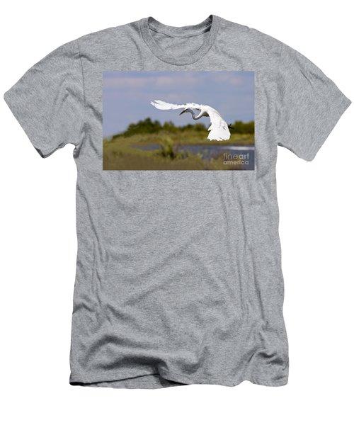 Egret Ballet Men's T-Shirt (Athletic Fit)