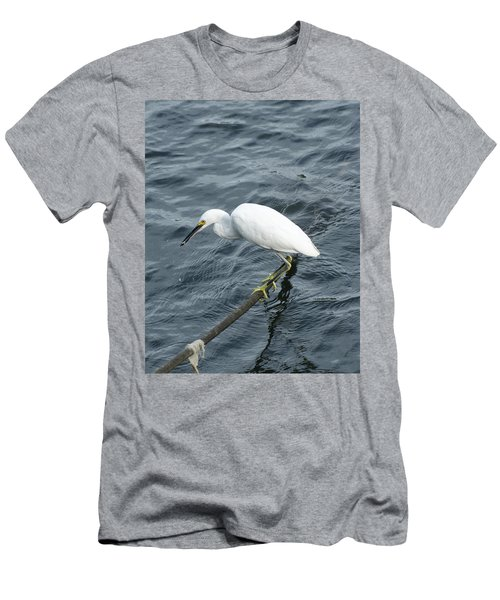Men's T-Shirt (Slim Fit) featuring the photograph Egret On The Munch by Margie Avellino