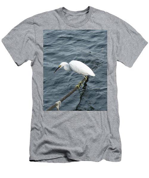 Egret On The Munch Men's T-Shirt (Slim Fit) by Margie Avellino