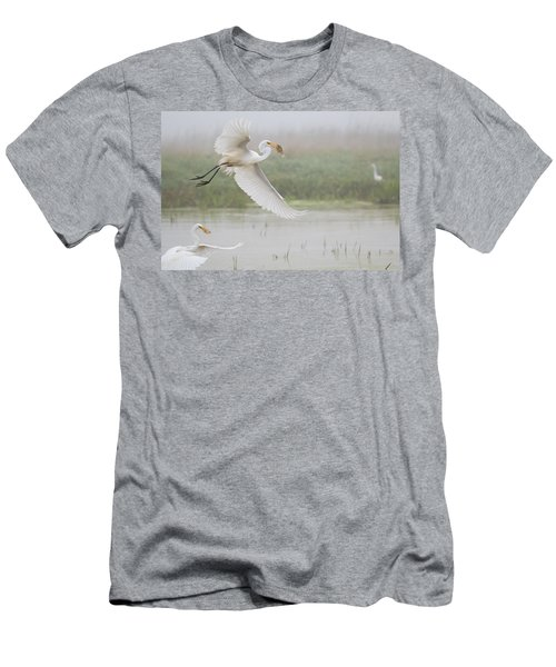 Egrets Fish Men's T-Shirt (Athletic Fit)