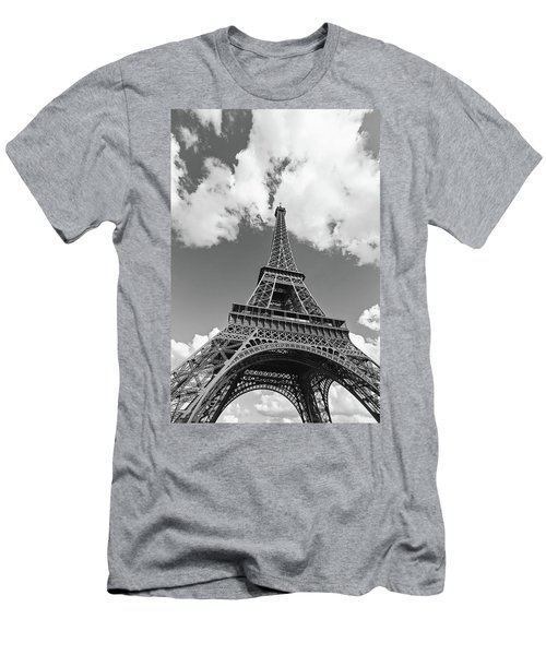 Eiffel Tower - Black And White Men's T-Shirt (Athletic Fit)