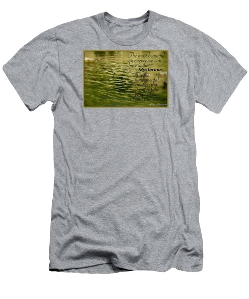 Men's T-Shirt (Slim Fit) featuring the photograph Einstein Mysterious by David Norman