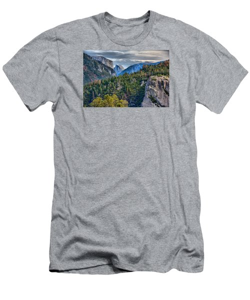 El Capitan And Half Dome Men's T-Shirt (Athletic Fit)