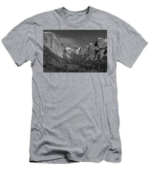 El Capitan And Half Dome Men's T-Shirt (Athletic Fit)
