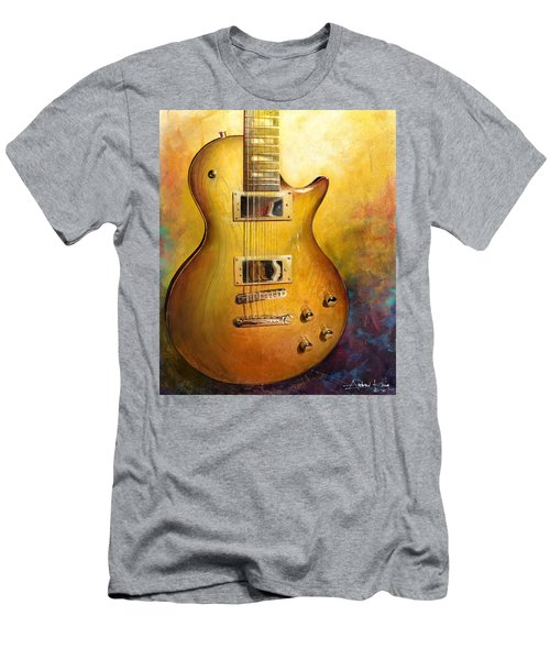Men's T-Shirt (Athletic Fit) featuring the painting Electric Gold by Andrew King