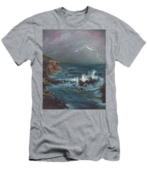 Electric Sky Men's T-Shirt (Athletic Fit)